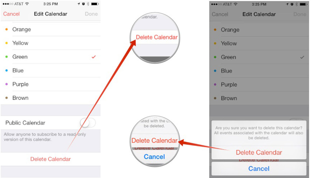 Before Runing The Program, You Need To Select The Unwanted Calendars From  Your Iphone, How To Delete Iphone Apps
