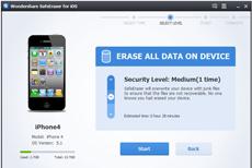 Select a level of erasing data